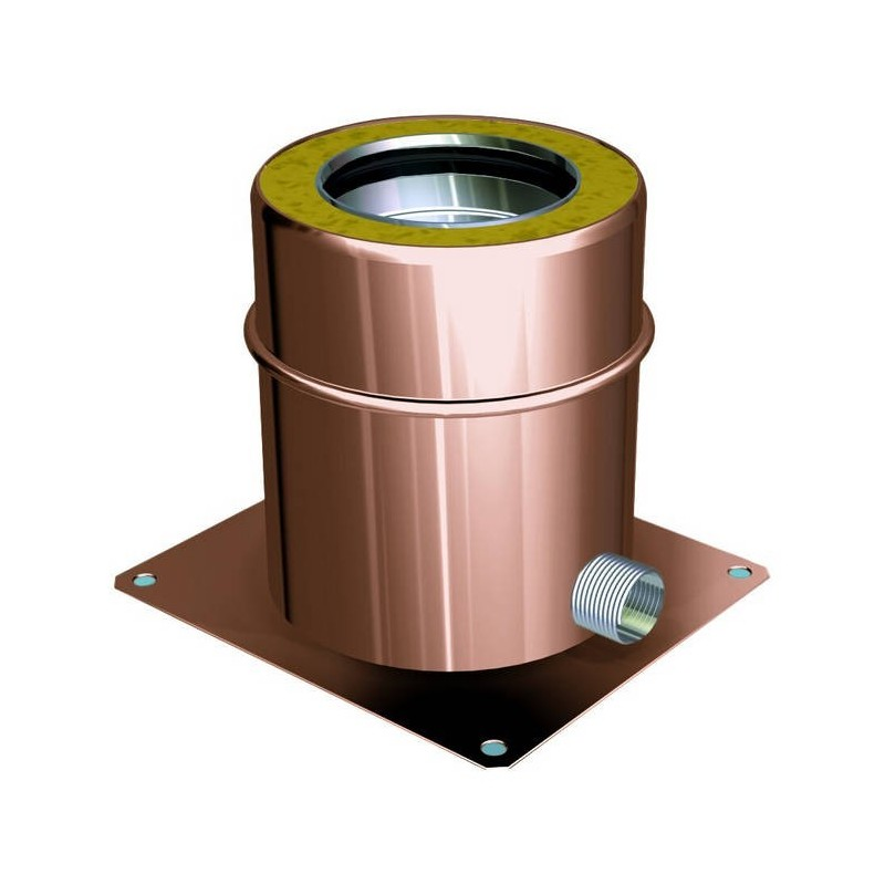 Flue pipe smoke withdrawal component copper