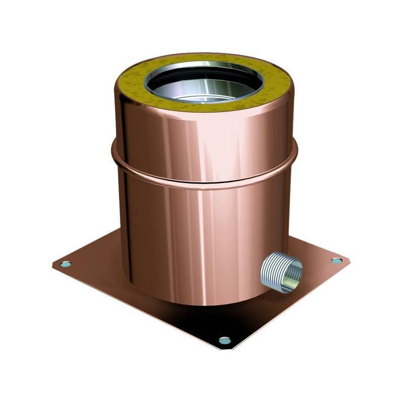 Plancha de salida con descarga de agua de condensación lateral conductos de humos cobre