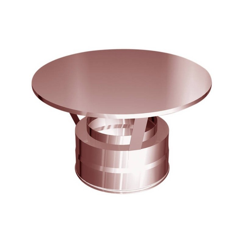 Base plate with lateral flue pipe condensation drain copper