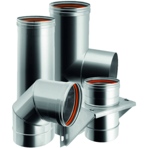 Single wall flue pipes in stainless steel – Qbasic