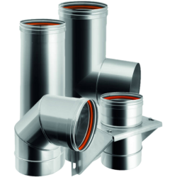 Single wall flue pipes