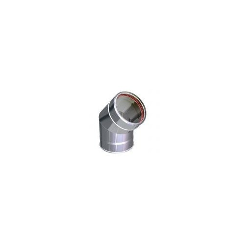 Bends for twin wall stainless steel flue pipes AIR
