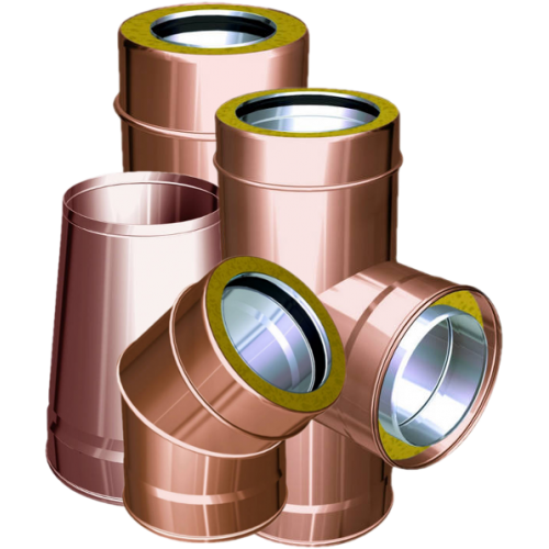 Twin wall flue pipes copper - QBasic