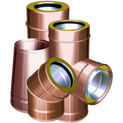 Twin wall flue pipes copper