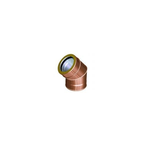 Bends for twin wall flue pipes copper