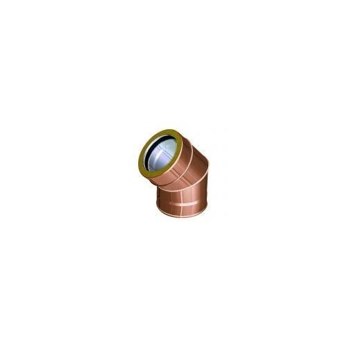 Curva per canne fumarie doppia parete rame - QBasic