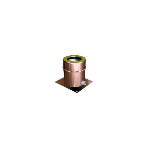 Exhaust brackets for twin wall flue pipes copper
