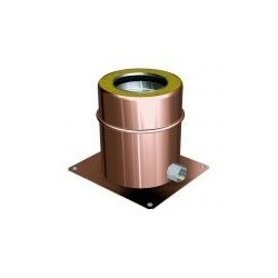 Exhaust brackets for flue pipes copper